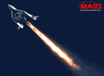MARS Scientific captured the second powered flight of Virgin Galactic's SpaceShipTwo over the Mojave Desert. Distance: 24km, Speed: Mach 1.4. Higher resolution images available upon request.
