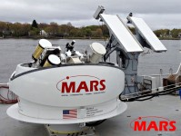 MARS Gyrostabilized Telescope and Synchronized X-Band Radar on NASA Space Shuttle SRB recovery ship Freedom Star. (Image Credit: NASA)